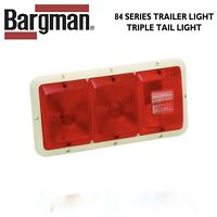Red w Colonial White Base New Bargman 30-86-001 Stop-Tail-Turn Light
