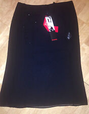 LADIES floaty black gauzy lined SKIRT SIZE 12  by NAUGHTY NEW RRP £60