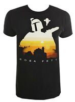 Star Wars Boba Fett Jabba's Palace Silhouette Black Men's T-Shirt New