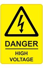 Size 205x290mm DANGER - HIGH VOLTAGE Health & Safety Signs / Stickers Factory