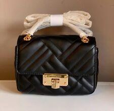 Michael Kors Peyton Small Shoulder Flap Crossbody Bag Black Leather NWT £270