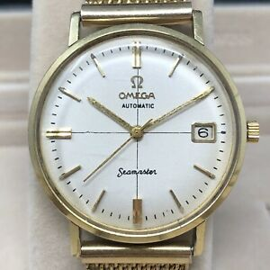 1961 Vintage Omega Seamaster Date Mens Watch Cal. 562 Crosshair Dial Ref. 14770