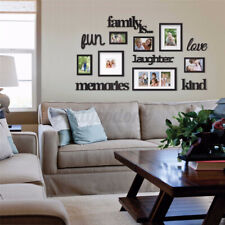 3D Family Photo Picture Frame Wall Sticker Collage Art Home Office Decor Graf