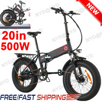 26/20 inches Fat Tire Electric Mountain Ebike 500W 48V/36V Battery Snow Bicycle(