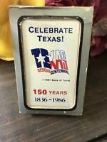 C.1986 VTG CELEBRATE TEXAS! 150 YEARS ANNIV. SOUVENIR POKER CARD DECK-SEALED NOS