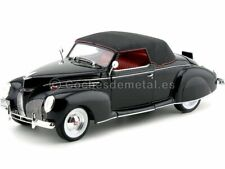 1939 Lincoln Zephyr Convertible Coupe Negro 1:18 Signature Models 18102