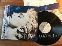 E16 MADONNA True blue Japan LP Promo / Lyrics / Obi / Poster very rare! EX