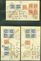 RHODESIA & NYASALAND LOT OF FIVE ROYAL VISIT SPECIAL CANCEL COVERS AS SHOWN