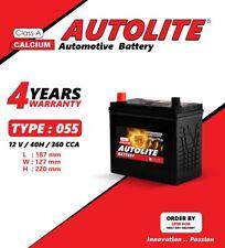 055 Car Battery fits Honda Suzuki Mazda Nissan  4 years Wty- Next Dety Del