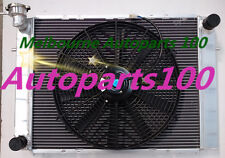 Fits Holden V8 Commodore VG VL VN VP VR VS Aluminum Race Radiator MT+Cap+Fan