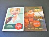 1951 Coca-Cola -You taste-its quality. Drink Coca-Cola-Set of (2) Magazine Ads.