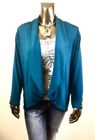 CHICO'S $107 NWT TRAVELERS STRIKING TEAL BUTTON JACKET SIZE 3 (XL)