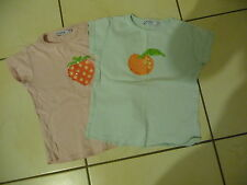 lot 2 tee shirt  fille  taille 6 ans marque okaidi