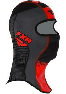 FXR SHREDDER TECH Balaclava Face Mask Snow Snowmobile -Black/Charcoal/Red -LARGE
