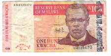 MALAWI 100 Kwacha VF Banknote (2009) P-54b Prefix BN Paper Money