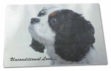 Tri-Col King Charles-With Love Extra Large Toughened Glass Cutting, AD-SKC6uGCBL