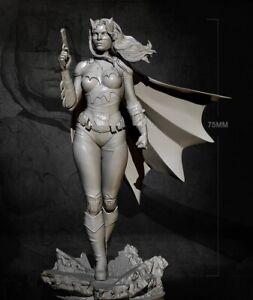 1/24 Resin Figure Mode Kit Sexy Girl Female Batman Batwoman Unpainted Unassamble