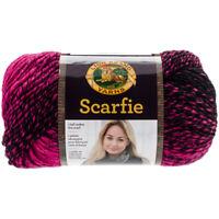 Lion Brand Scarfie Yarn-Black/Hot Pink, 826-213