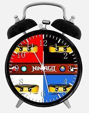 """Lego Ninjago Alarm Schreibtisch Uhr 3.75"""" Heim oder Büro Dekor W418 Nizza für Geschenk"""