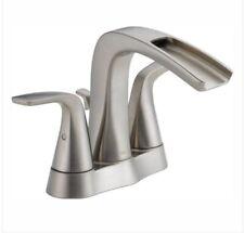 "Delta 25724LF-SS-ECO Tolva 4"" Centerset 2-Handle Bathroom Faucet, Brushed Nickel"