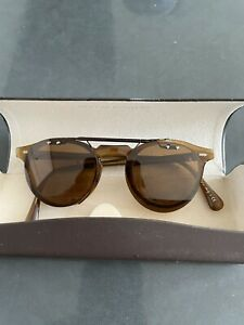 OLIVER PEOPLES Gregory Peck Polarized Flip-up Clip-on Gold &Brown- Only Clipon