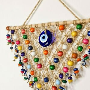 Nazar Turkish Evil Eye Handmade Bohemian Macramé Dream Catcher Gift for her