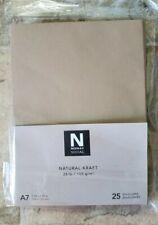 A7 Natural Kraft Envelopes, Neenah Social, 5-1/4 x 7-1/4 [25/pk] (open box)