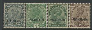 BAHRAIN, MINT, #1-4, OG NH, WMK 196, CRISP, SOUND & CENTERED