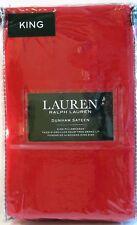 PR Ralph Lauren Cotton Dunham Sateen Pillowcases Admiral Red King - NEW