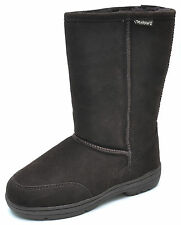 Bearpaw MEADOW Brown Suede Mid Calf Boots Women's 7 - NEW - 605W