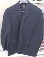 NWT MEXX Mens 3-Button Black Pinstripe Suit Jacket MSRP $149.99 Size 40