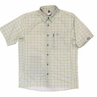 The North Face Vented Button Down Shirt Mens Size Medium Short Sleeve Green