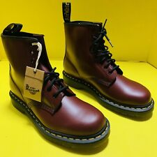 Dr Martens 1460 Cherry Red Boots Mens 9 Smooth Leather Brand New With Box