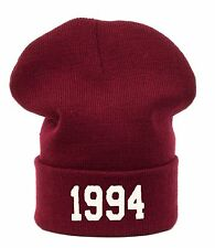Men Women WINTER BEANIE HAT Justin Cap 1994 SNAP BACK HATS LA SKI SNOWBOARD LA