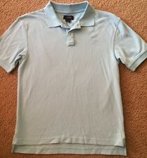 Izod Boys Polo Top Size Large 14/16 Light Blue Logo Emblem EUC Collar