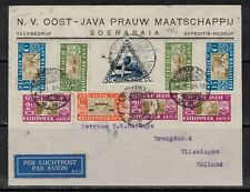 Netherlands East-Indies 1934 Airmail COVER to Vlissingen via Roterdam NL