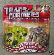 TRANSFORMERS ROBOT HEROES MOVIE SERIES 2 AUTOBOT SPRINGER & STARSCREAM
