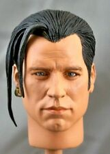 1:6 Custom Head of John Travolta as Vincent Vega from Pulp Fiction (w/PONY TAIL)
