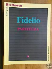 opera full score partitura BEETHOVEN fidelio