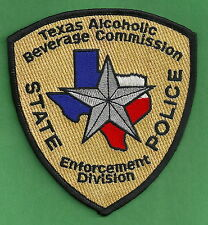TEXAS ALCOHOLIC BEVERAGE COMMISSION POLICE ENFORCEMENT SHOULDER PATCH