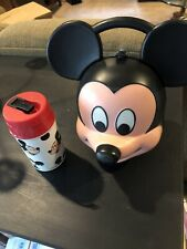 New ListingAladdin Mickey Mouse Lunch Box With Thermos Vtg