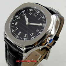 40mm Bliger sterile black dial date sapphire glass automatic Square mens watch