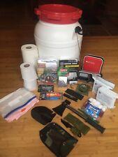 Emergency / Survival Kit -Tent, Blanket, Transistor, Knife, Food, Compass...
