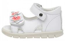 FALCOTTO PAPAGAYO - Sandalo bambina in pelle con fiori applicati - Bianco
