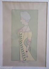 Leonetto CAPPIELLO Nos Actrices Cécile SOREL Revue Blanche Gravure Pochoir 1899