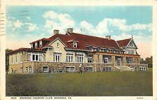Roanoke Virginia 1929 Postcard Roanoke Country Club Golfer