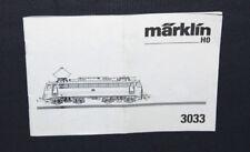 Marklin 3033  Betriebsanleitung Begleitheft Anleitung