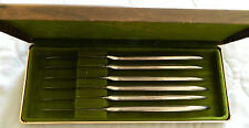 Vintage Supreme Cutlery Corp Stainless Steel Italy 6 Knife Set In Original Box