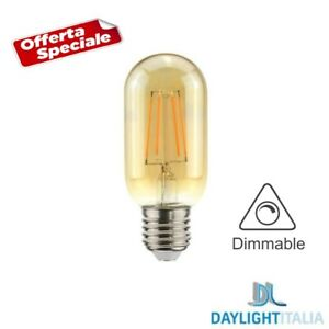 LAMPADINA LED DIMMERABILE 4.5W 2000K VINTAGE ATTACCO E27 FILAMENTO T45 A60 LIGHT