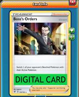 Boss's Orders - 154/192 Rebel Clash PTCGO Online Digital Card